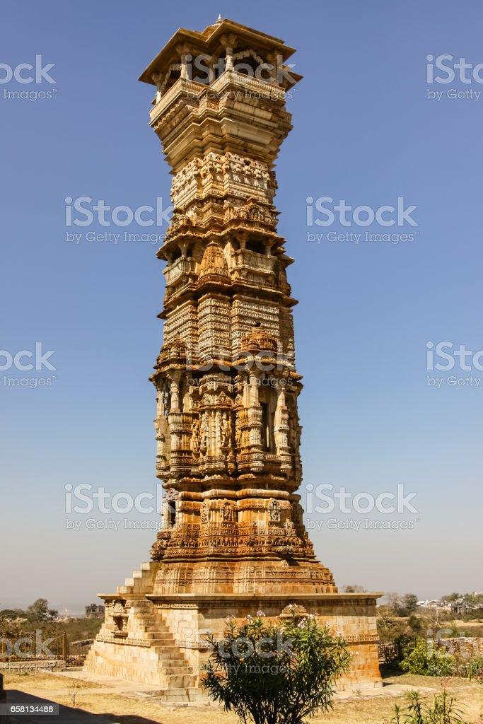 Kirti Stambha, Chittorgarh Fort royalty-free stock photo