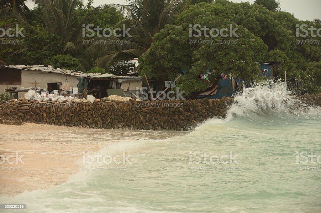 Kirtibati, Tararwa island stock photo