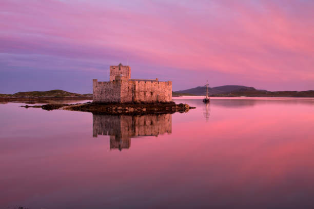Isle of Barra, Outer Hebrides, Scotland - August 27, 2016: Kisimul Castle stock photo