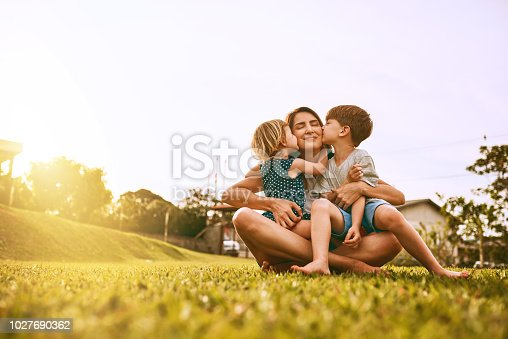 Cropped shot of a young family spending time together outdoors