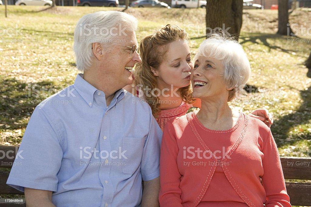 Kiss for Grandma royalty-free stock photo