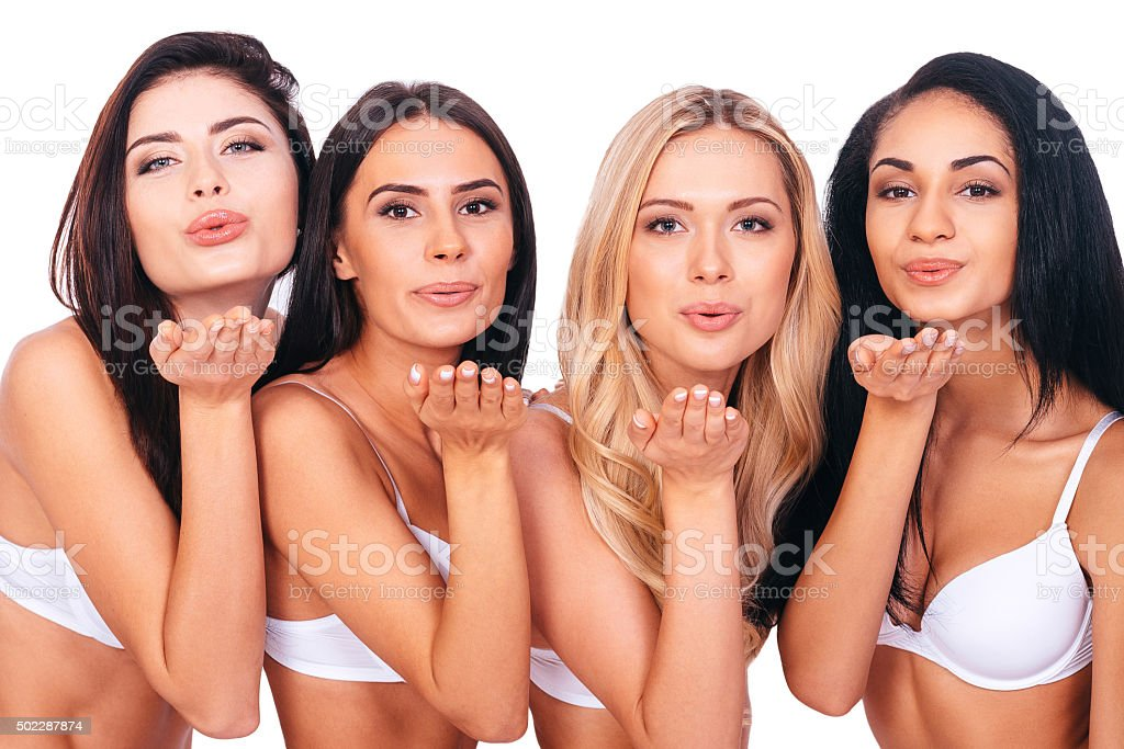 Kiss for you. stock photo