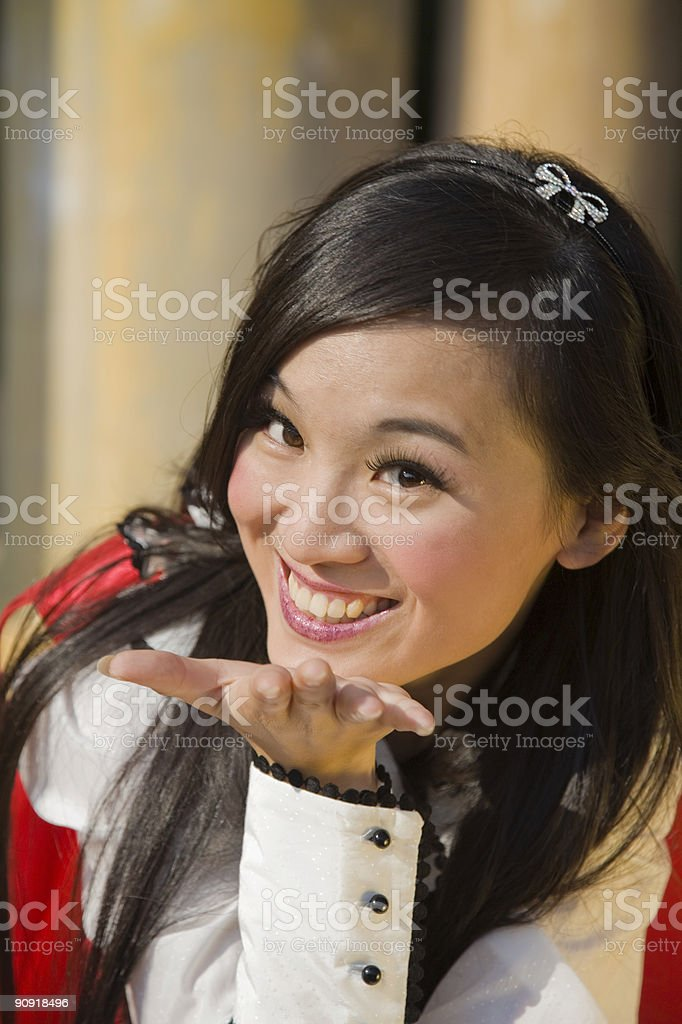 Kiss for you stock photo