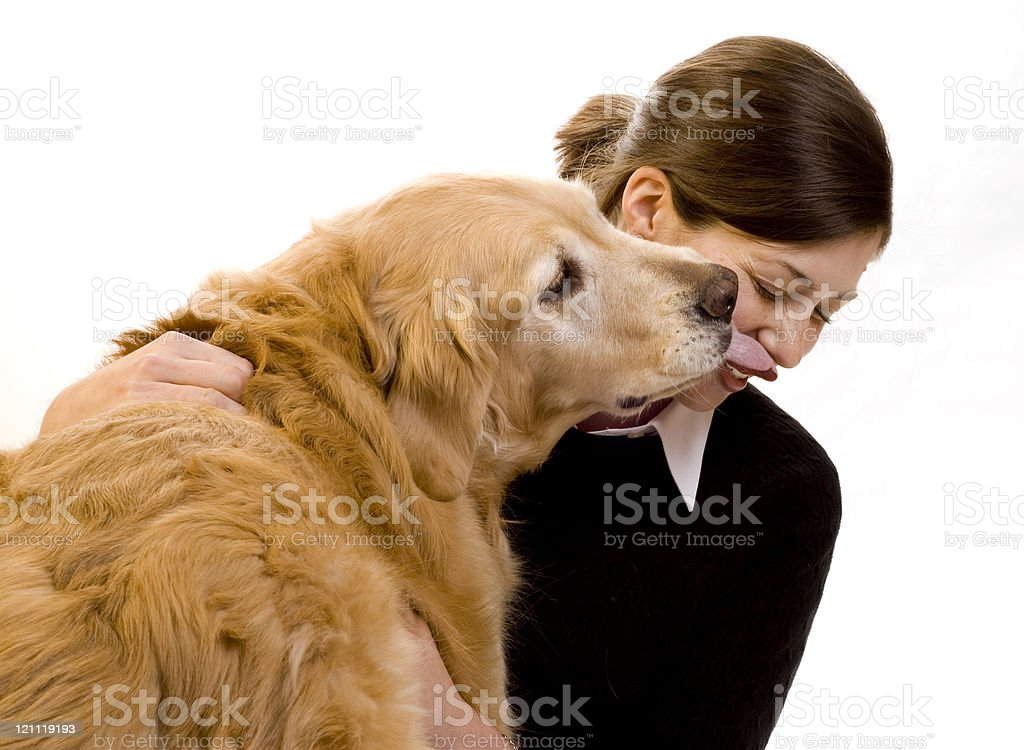 Kiss From a Dog royalty-free stock photo