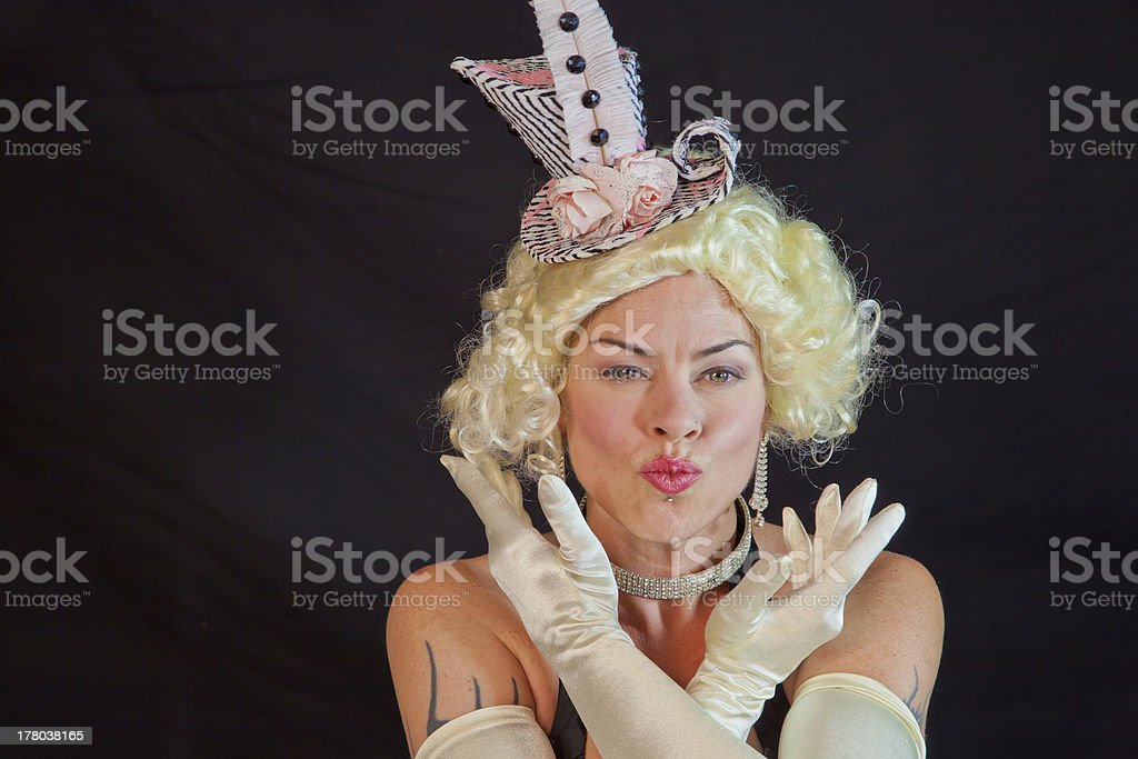 Kiss From A Showgirl stock photo