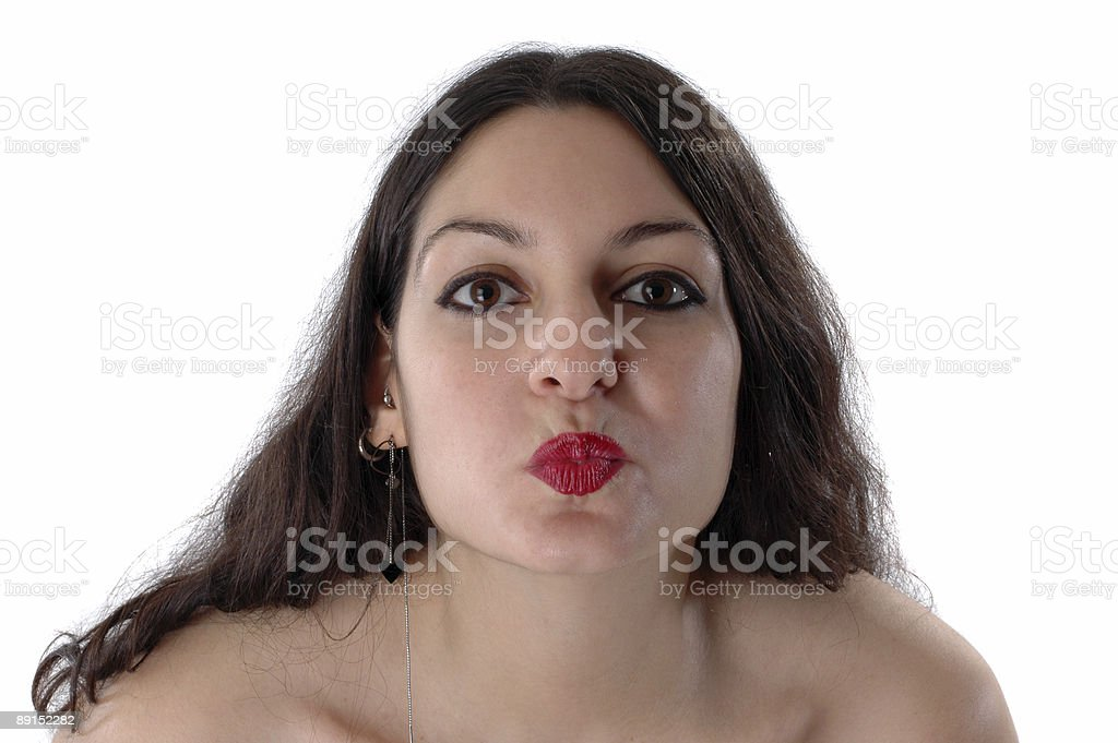 kiss from a young girl royalty-free stock photo