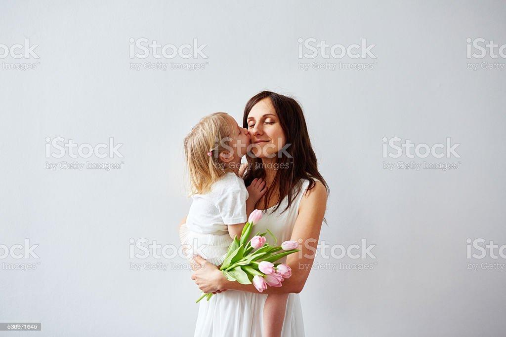 Kiss von Tochter – Foto