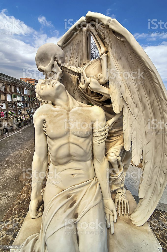 Kiss of Death. stock photo