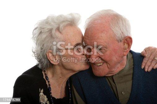 istock Kiss on the cheek. 174478289