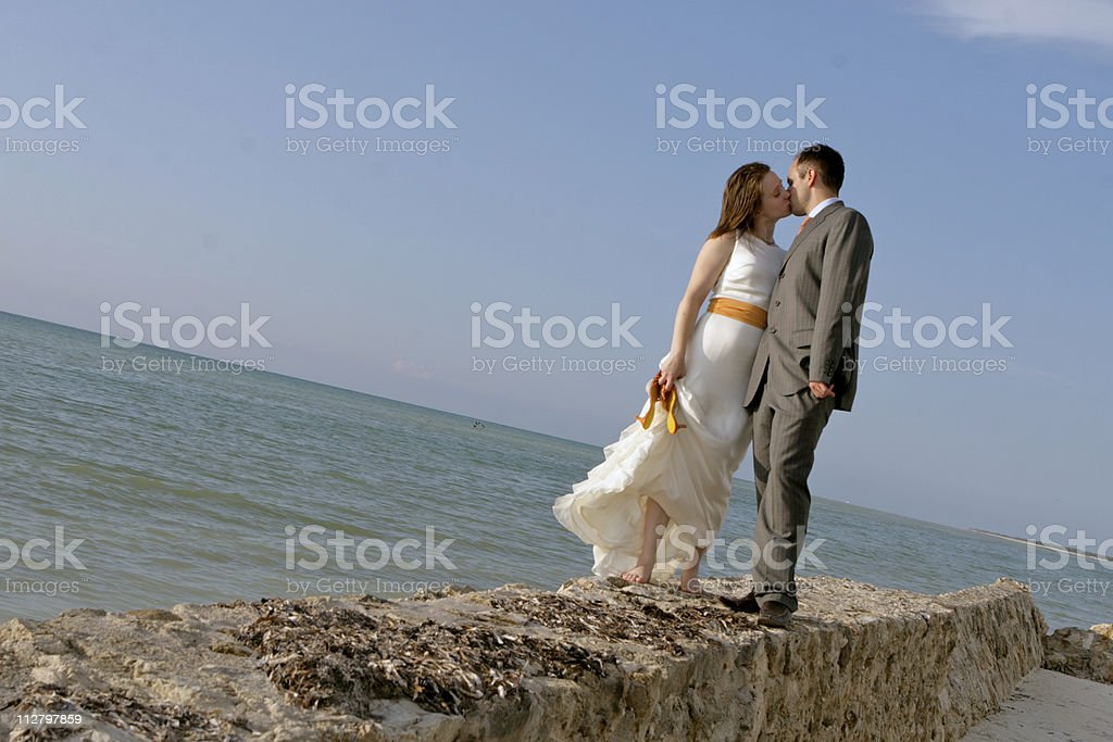 Kiss on the Wall royalty-free stock photo