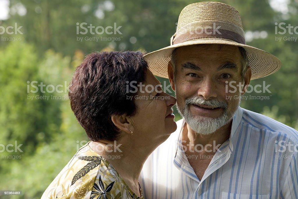 kiss royalty-free stock photo