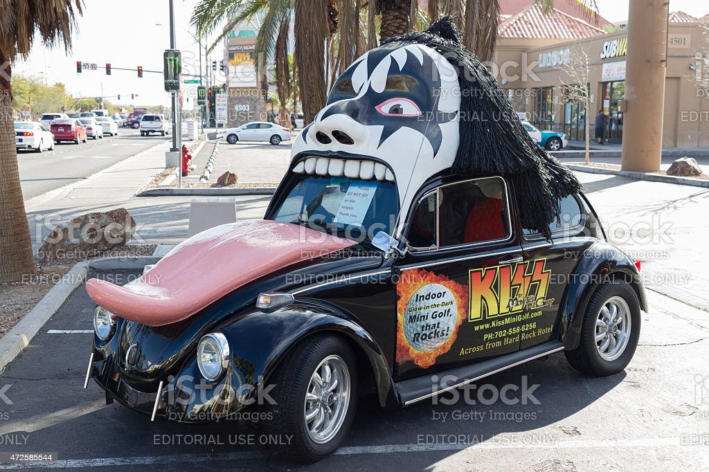 Kiss VW Beetle stock photo