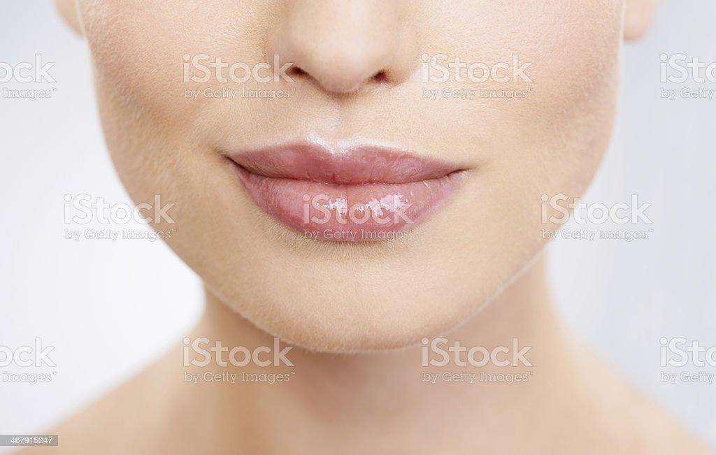 Kissable lips stock photo