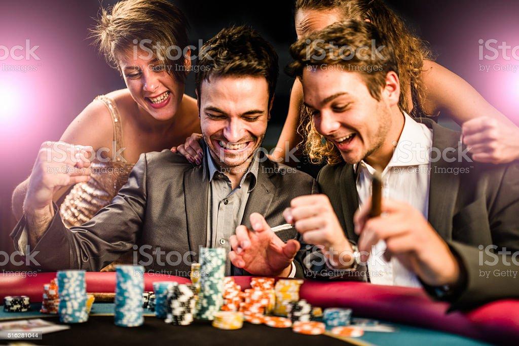 Sfiora la fortuna a poker - foto stock