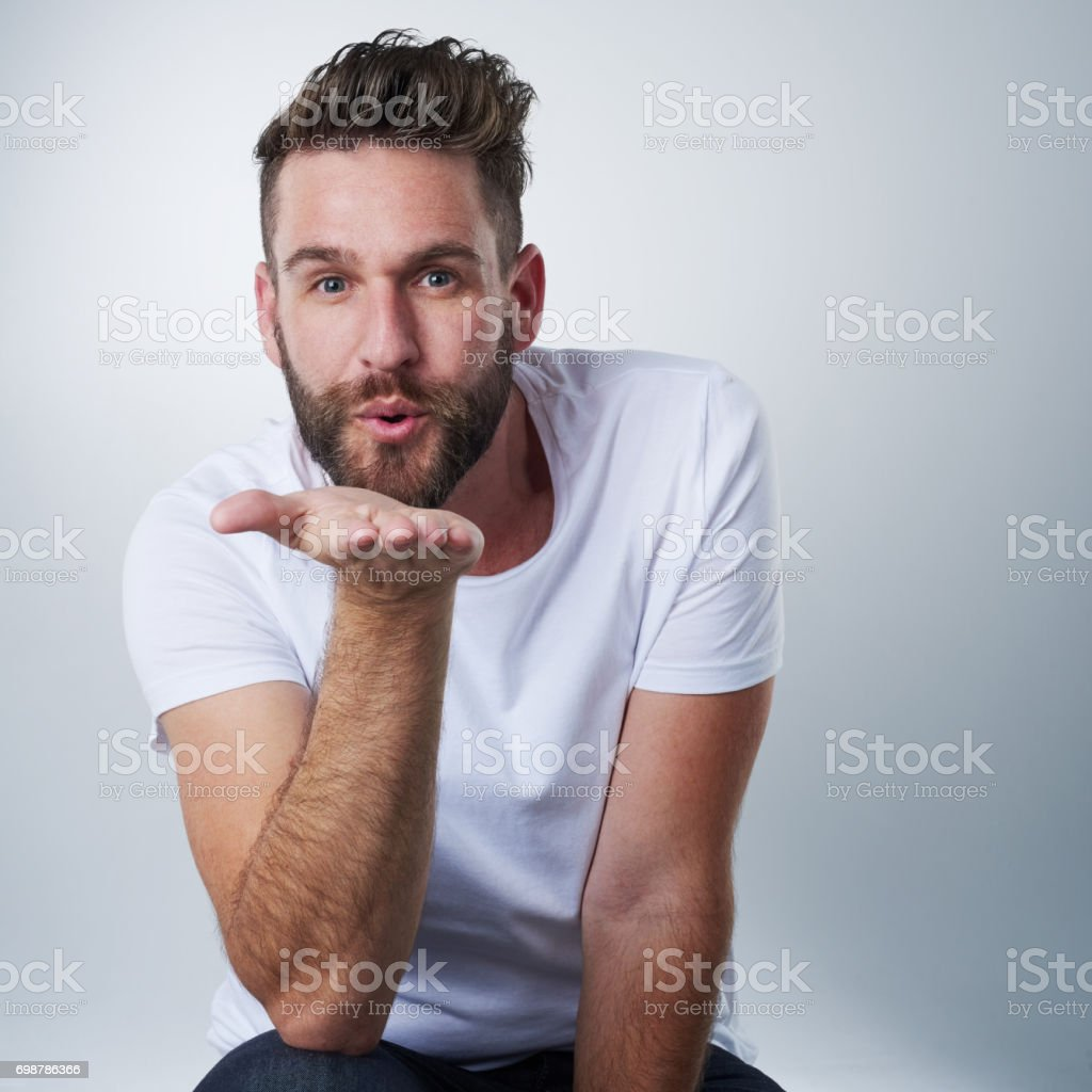 Kisses coming your way! stock photo