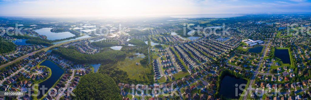 Kissimmee Florida aerial view stock photo