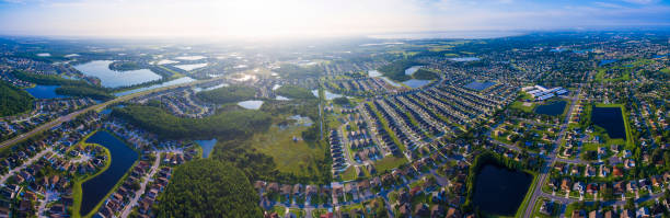 kissimmee florida aerial view - kissimmee stock photos and pictures