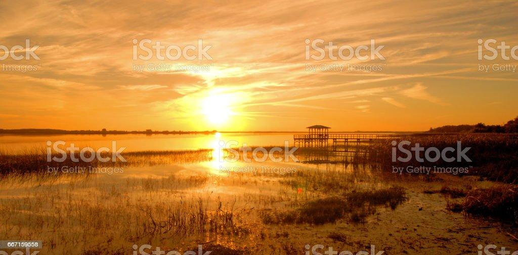 Kissimmee Sunset stock photo