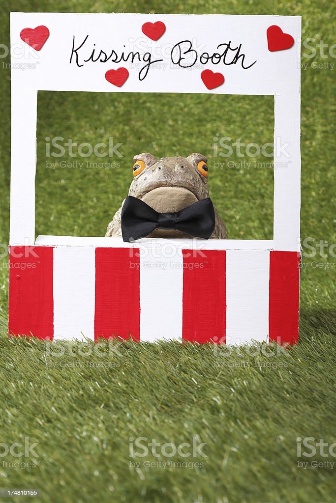 Kissing Booth royalty-free stock photo