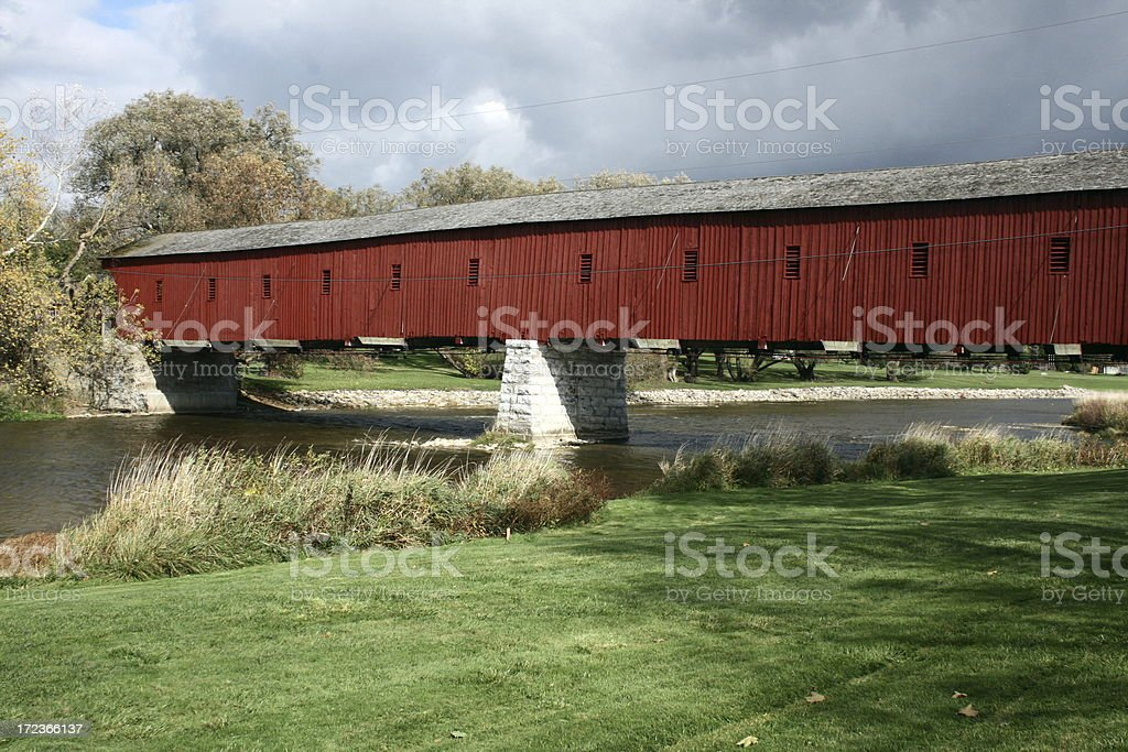 kissing bridge royalty-free stock photo