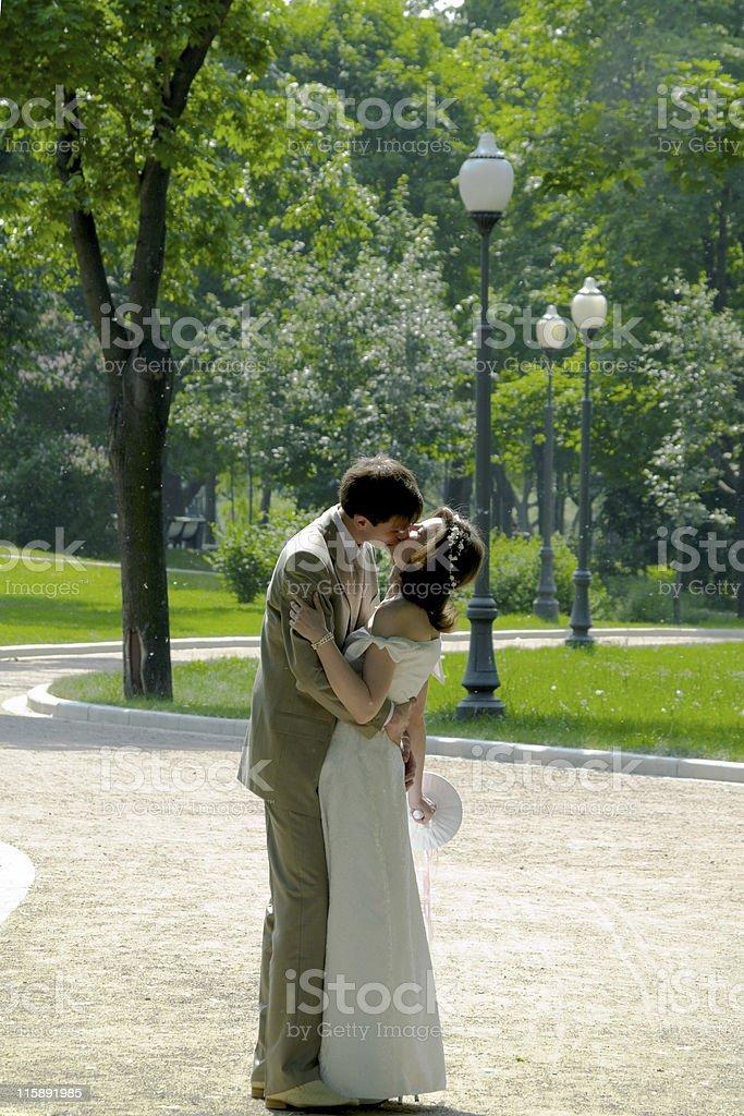 Kissing couple 2 royalty-free stock photo