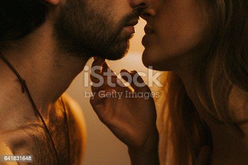 Couple enjoying their love