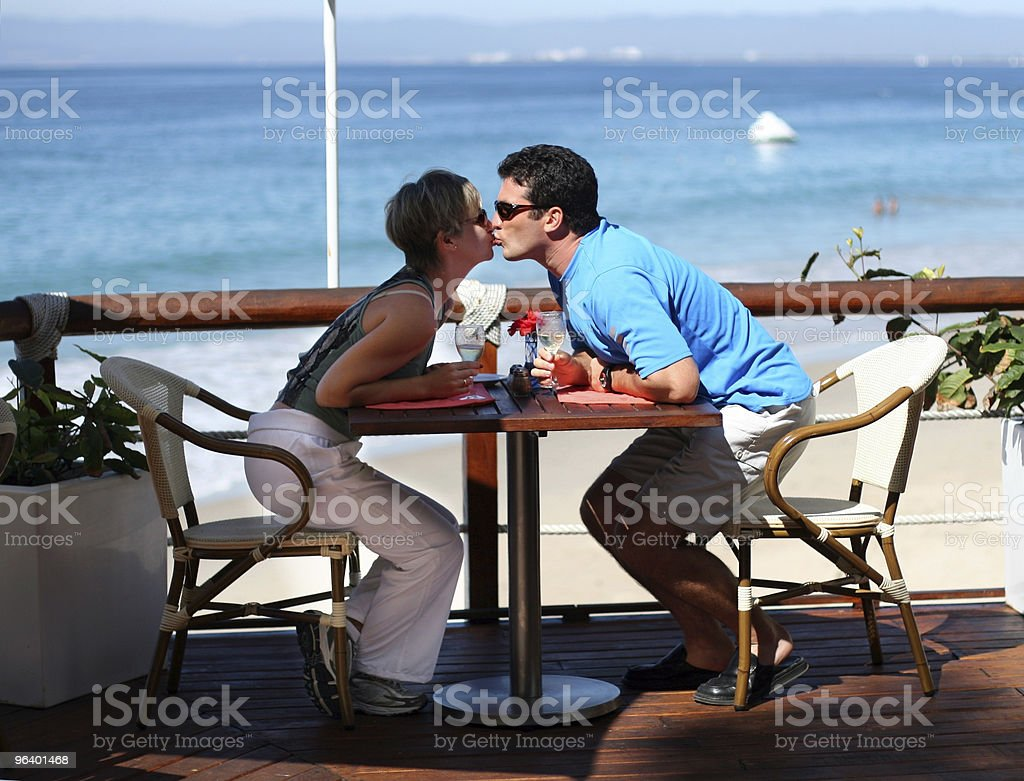Kissing couple - Royalty-free Adult Stock Photo