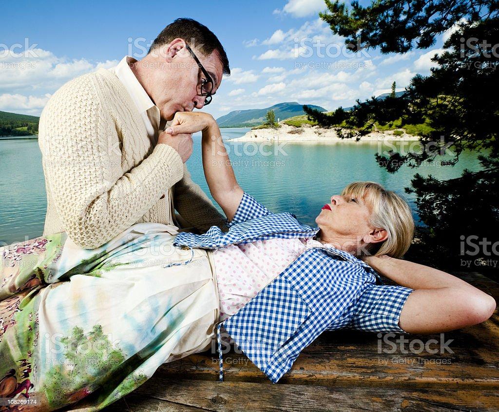 Kissing hand - foto de stock