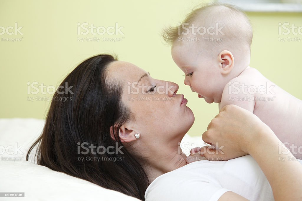 Kissing her love royalty-free stock photo