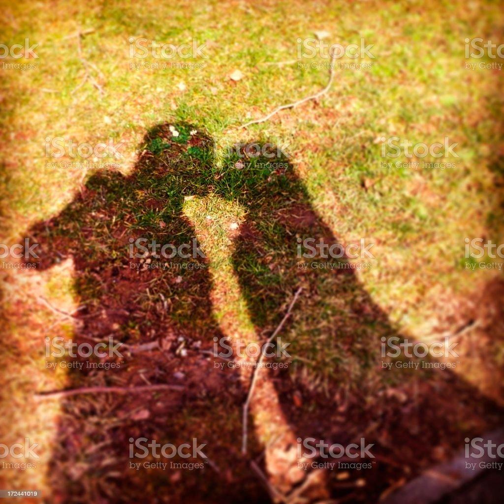 Kissing Shadows - MobileStock royalty-free stock photo