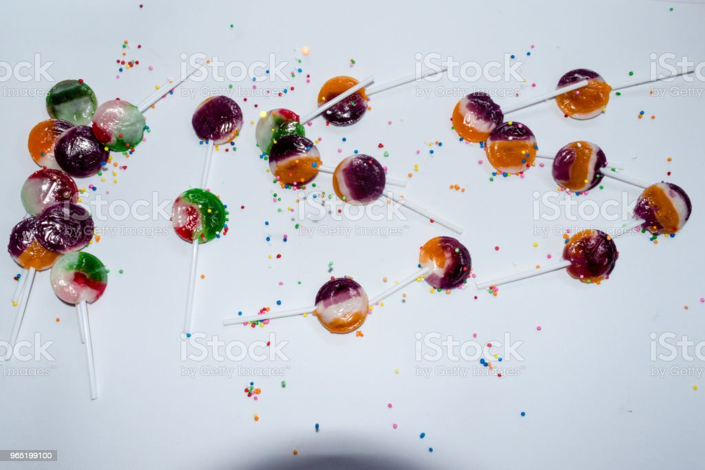 kissing sign with sweet lollipops royalty-free stock photo