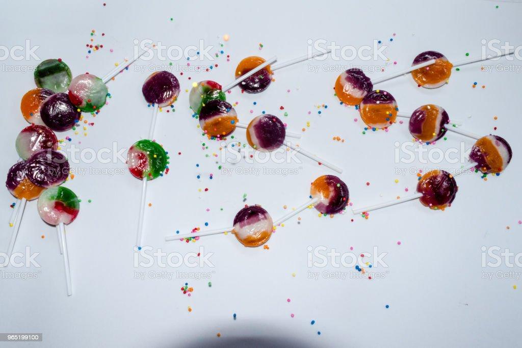 kissing sign with sweet lollipops zbiór zdjęć royalty-free