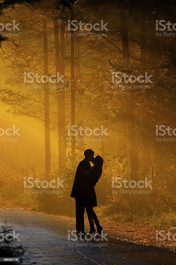 kisssing casal foto royalty-free