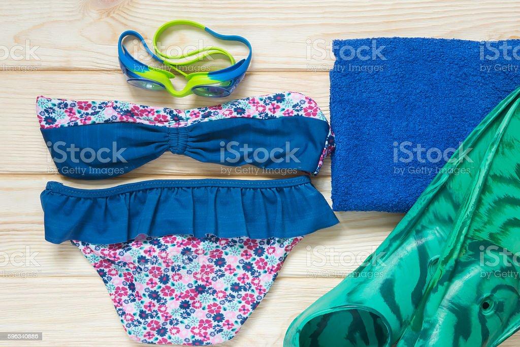 Kit baby on beach royalty-free stock photo