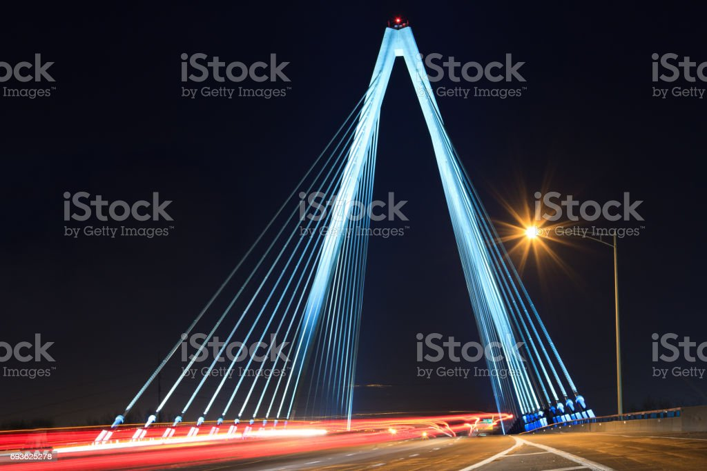 Kit Bond Bridge with Traffic stock photo