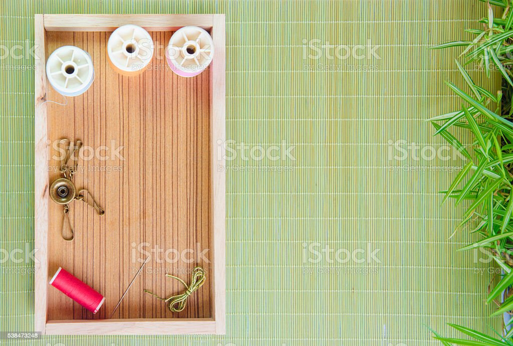 Kit embroidery embroider tool stock photo