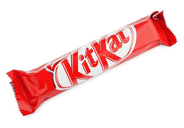 kit kat candy chocolat bar - kit kat stock photos and pictures