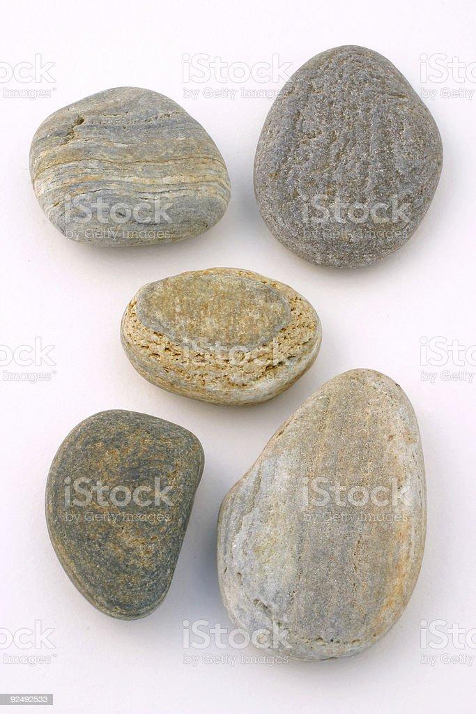 Set von Steinen Lizenzfreies stock-foto