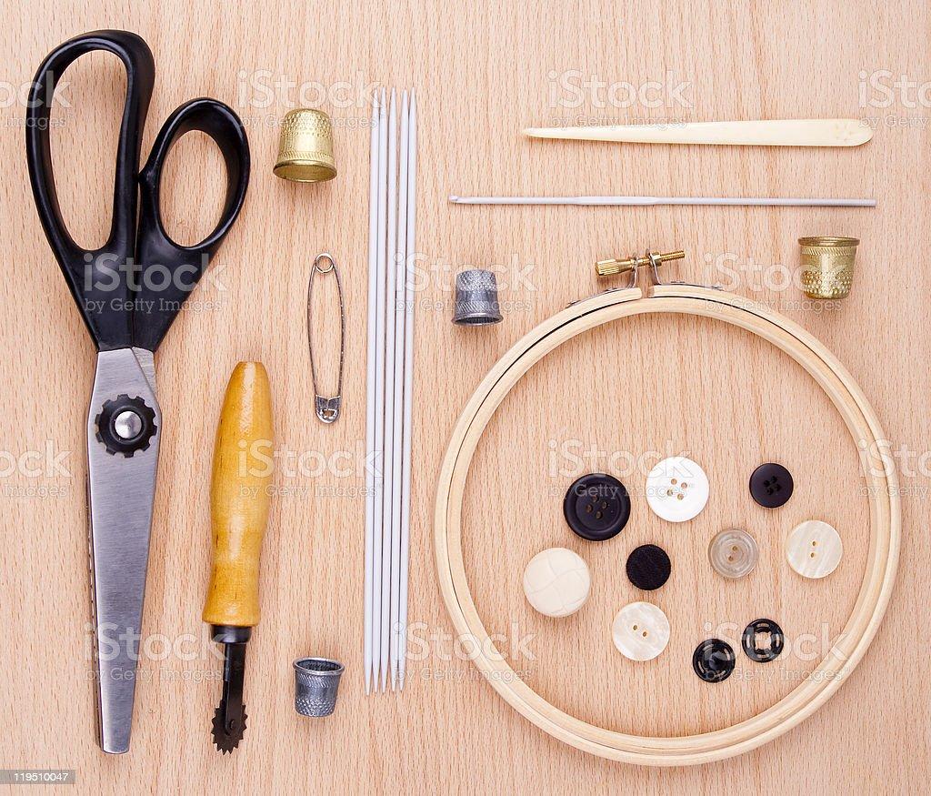 Kit \tfor  needlework royalty-free stock photo