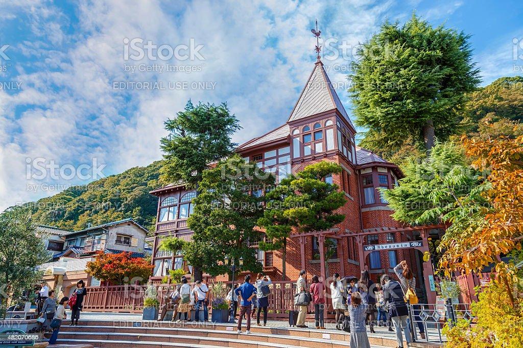Kitano Tenmangu Shrine in Kobe stock photo