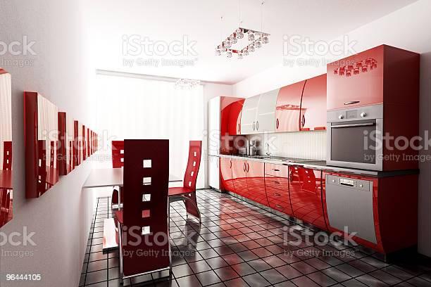Foto de Cozinha 3d Render e mais fotos de stock de Apartamento