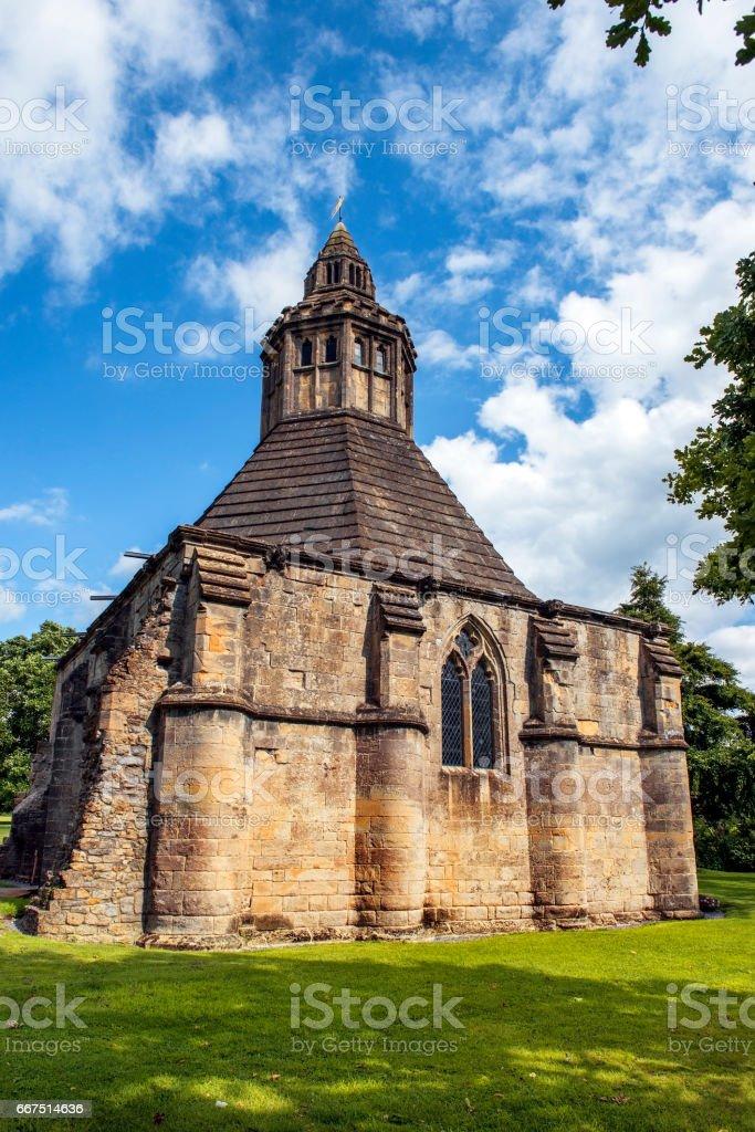 kitchen abbot of Glastonbury Abbey, Somerset, South West England foto stock royalty-free