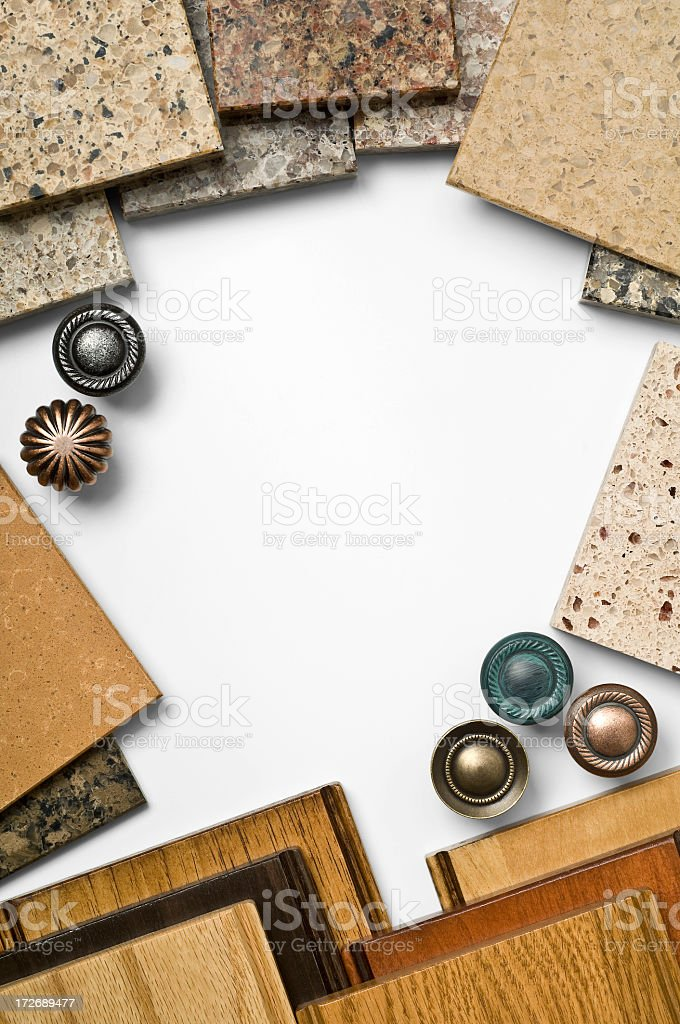 Kitchen and Bathroom Samples royalty-free stock photo