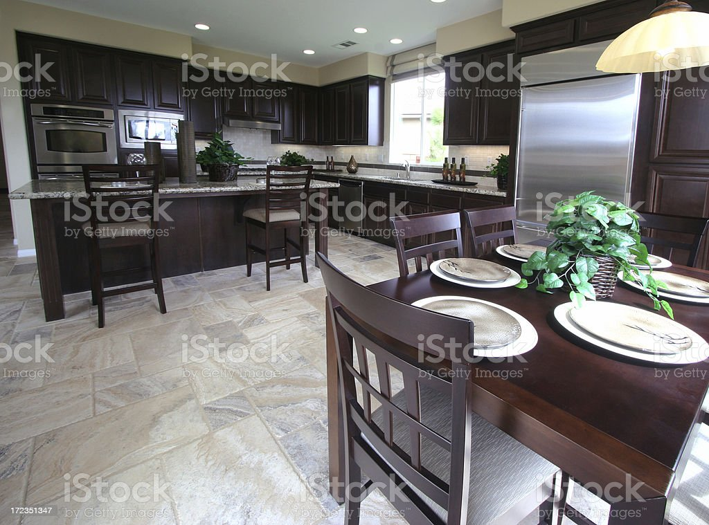 Kitchen and Breakfast Nook royalty-free stock photo