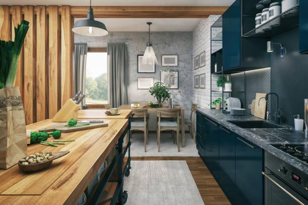kök och matplats - looking inside inside cabinet bildbanksfoton och bilder
