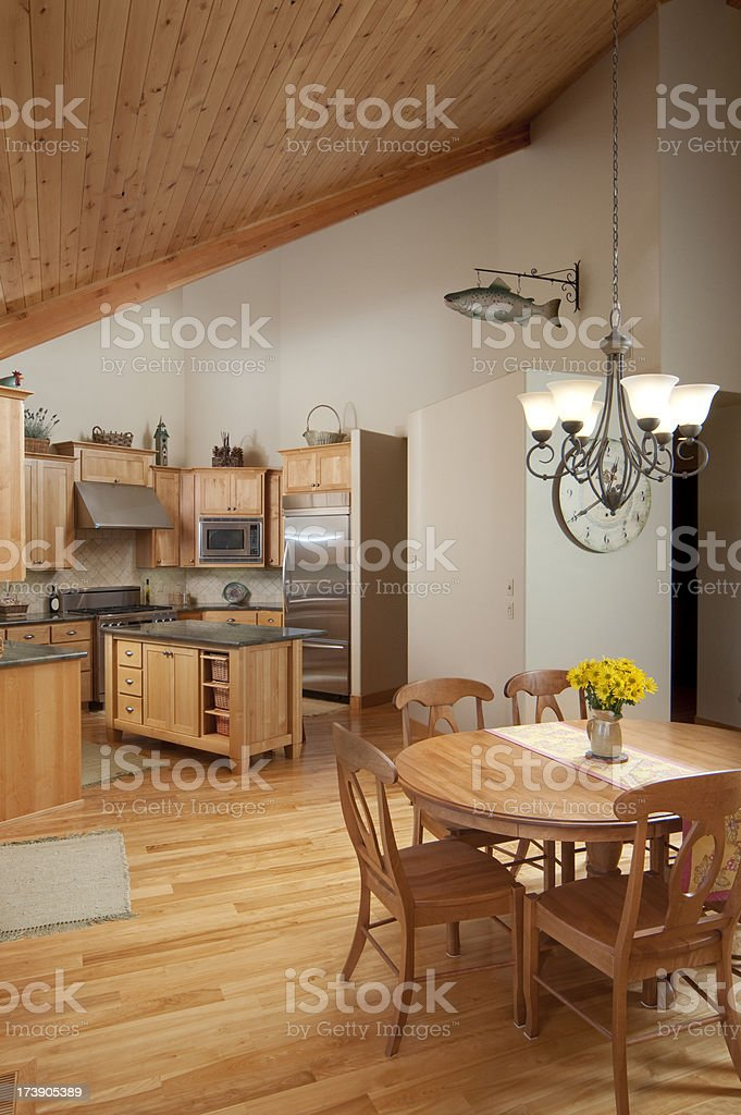 Kitchen and dining room royalty-free stock photo