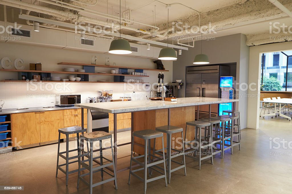 Kitchen Area In Corporate Business Cafeteria Los Angeles - Stockfoto ...