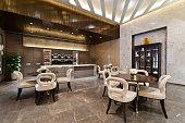 istock Kitchen area with marble floor 524996363