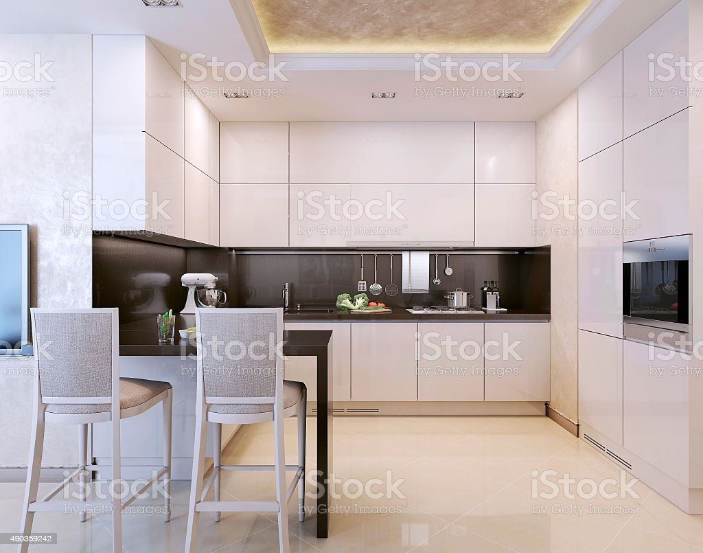 Kitchen art deco style stock photo