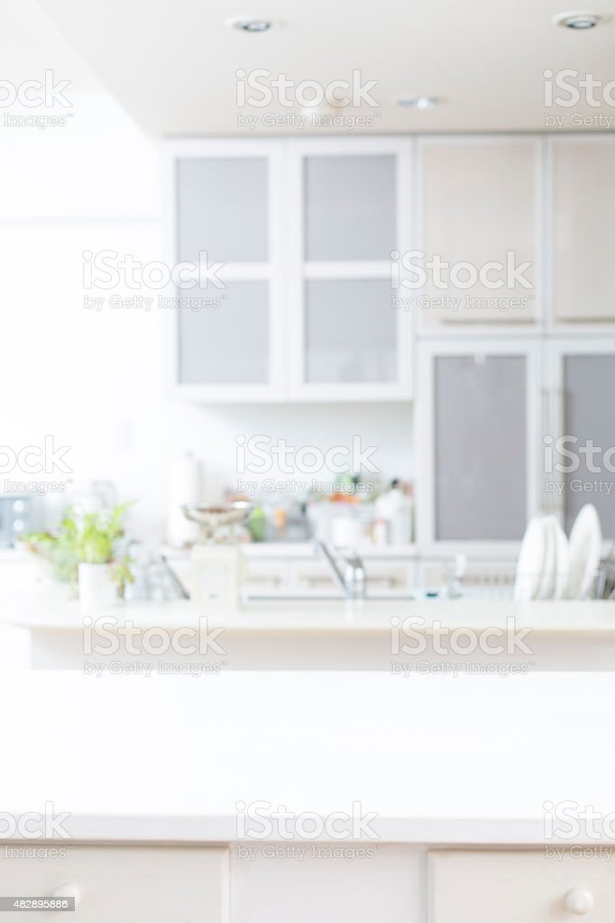 Kitchen background stock photo